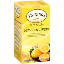 TWG 09180 Twinings Lemon & Ginger Herbal Tea K-Cup