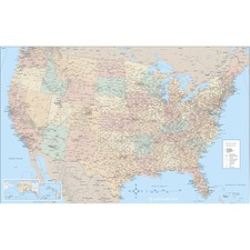 AVT 97643 Advantus Laminated USA Wall Map