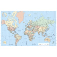 AVT 97644 Advantus Laminated World Wall Map