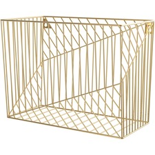 UBR 3231U0206 U Brands Gold Hanging File Basket