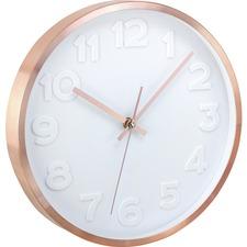 "Artistic 12"" Copper II Wall Clock"
