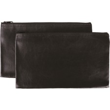 WALLET, ZIPPER, PVC,BLK,2PK