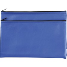 Business Source Carrying Case (Wallet) Money, Receipt, Office Supplies, Check - Blue