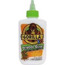 GOR 2754203 Gorilla Glue Kids Gorilla School Glue 4 oz. Bottle