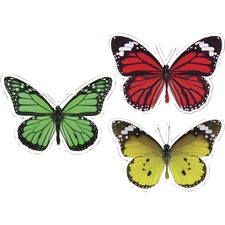CDP 120563 Carson-Dellosa Woodland Whimsy Butterflies Cut-Outs Set