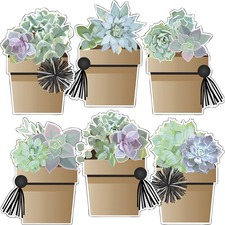 CDP 120579 Carson-Dellosa Simply Stylish Potted Succulents Cut-Outs
