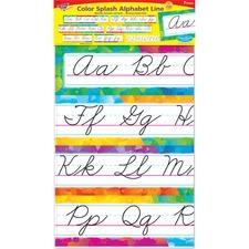 TEP 8053 Trend Color Splash Cursive Alphabet Board Set