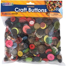 PAC 6121 Pacon Craft Button Variety Pack