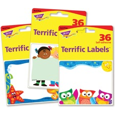 TEP 68906 Trend Terrific Labels Friendly Faces Name Tags