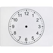 PAC AC900525 Pacon Clockface 2-sided Whiteboard