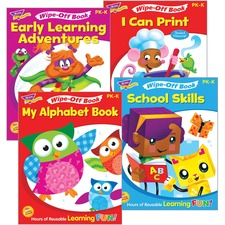 TEP T94913 Trend Early Learning Wipe-Off Book Set Printed Book