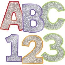 CDP 130084 Carson-Dellosa Carson EZ Letters Colorful Glitter Combo Pack