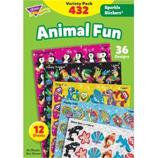 TEP 63902 Trend Animal Fun Stickers Variety Pack