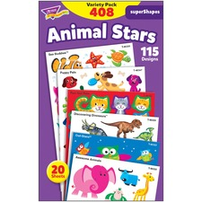 TEP 46928 Trend Animal Fun Stickers Variety Pack