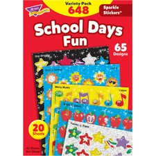 TEP 63909 Trend Sparkle Stickers School Days Fun Stickers