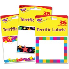 TEP 68905 Trend Terrific Labels Colorful Assorted Name Tags