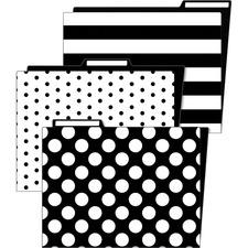 CDP 136087 Schoolgirl Style Simply Stylish Classroom File Folders