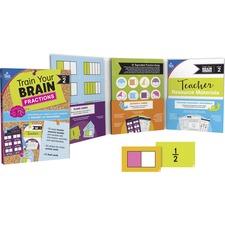 CDP 149015 Carson-Dellosa Train Your Brain Fractions Classroom Kit