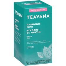 Teavana Harmonic Mint Herbal Tea - Herbal Tea - Harmonic Mint, Peppermint, Spearmint, Lemon, Verbena - 1.1 oz - 24 / Box