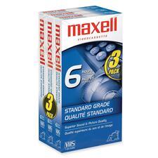 """Maxell Standard Grade VHS Videocassette - VHS - 0.05\"""" - 120Minute - SP"""