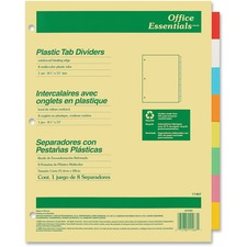 AVE 11467 Avery Index Maker Translucent Multi Label Dividers AVE11467