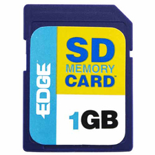 Edge Memory Digital Media 1 GB Flash Memory Card