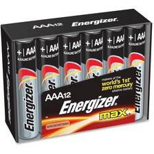 EVE E92FP12 Energizer Max Alkaline AAA Batteries EVEE92FP12
