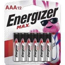 EVE E92BP12 Energizer Max Alkaline AAA Batteries EVEE92BP12