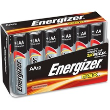 EVE E91FP12 Energizer Max Alkaline AA Batteries EVEE91FP12