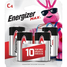 EVE E93BP4 Energizer Max Alkaline C Batteries EVEE93BP4