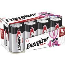 Energizer Max Alkaline C Batteries - C - Alkaline - 1.5 V DC - 8 / Pack