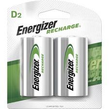 EVE NH50BP2 Energizer NiMH e2 Rechargeable D Batteries EVENH50BP2