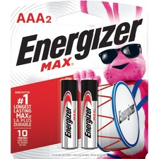 EVE E92BP2 Energizer Max Alkaline AAA Batteries EVEE92BP2