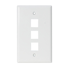 Steren 3 Socket Keystone Faceplate - 3 x Socket(s) - White
