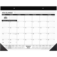 AAG SK2200 At-A-Glance Recycled Refillable Classic Desk Pad AAGSK2200