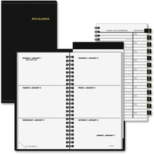 AAG 7054305 At-A-Glance Deluxe Pocket Weekly Planner AAG7054305