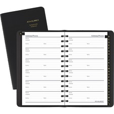 "AAG 8020105 At-A-Glance 3-3/4"" x 6"" Telephone/Address Book AAG8020105"