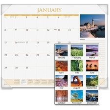 AAG DMD11032 At-A-Glance Scenic Monthly Desk Pads AAGDMD11032