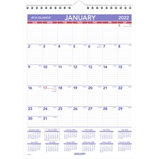 AAG PM128 At-A-Glance Recycled Basic Monthly Wall Calendars AAGPM128