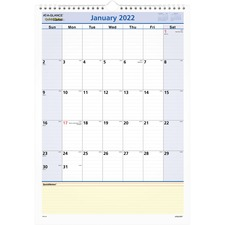 AAG PM5228 At-A-Glance QuickNotes Monthly Wall Calendar  AAGPM5228