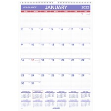 AAG PMLM0328 AT-A-GLANCE Write-on Laminated Mthly Wall Calendar AAGPMLM0328
