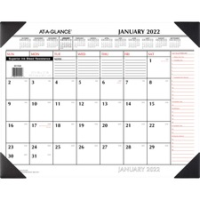 AAG SK117000 At-A-Glance 2-color Print Recycled Desk Pad AAGSK117000