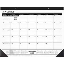 "AAG SK241600 At-A-Glance 22"" Academic 16-Month Desk Pad AAGSK241600"