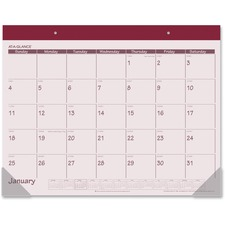 AAG SK2592 At-A-Glance Fashion Color Monthly Desk Pads AAGSK2592