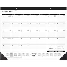 AAG SK3000 AT-A-GLANCE Classic Monthly Desk Pad AAGSK3000
