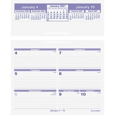 AAG SW700X00 AT-A-GLANCE Flip-A-Week Storage Base Desk Calendar AAGSW700X00