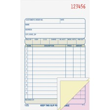 ABF TC4705 Adams Carbonless 3-part Sales Order Books ABFTC4705