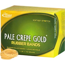 ALL 20129 Alliance 1/4lb Box Pale Crepe Gold Rubber Bands ALL20129