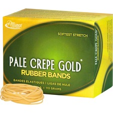 ALL 20169 Alliance 1/4lb Box Pale Crepe Gold Rubber Bands ALL20169