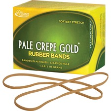 ALL 21409 Alliance 1/4lb Box Pale Crepe Gold Rubber Bands ALL21409